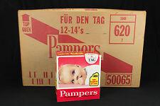 alte Pampers Windeln mit Plastikfolie 12Kartons * vintage Pampers plastic diaper