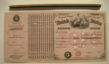 "1876 $5 US Internal Revenue Stamp for Dealer in Manufactured Tobacco 14""x 7 1/8"""