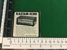 Kastam Echo unit 8 track cartridge magazine vintage advert from 1981