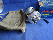 A SCARCE VINTAGE RECORD NO 1550C MULTIPLIER REEL WITH 1600C BOX AND BITS