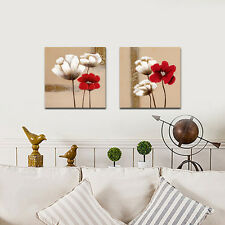 Painting Pic Canvas Print Abstract Flowers Landscape Wall Art Home Decor Framed