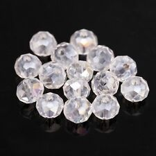 80pcs Shiny Clear Crystal Glass Rondelle Spacer Bead 4x6mm For Diy Bracelet