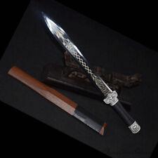 Camping Snow Hawk Short sword Battle ready High Manganese Steel Blade Sharp#1366
