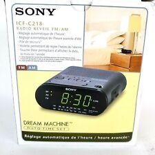 Sony ICF-C218 FM/AM Clock Radio Dream Machine Brand New