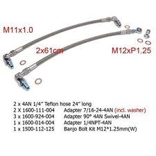 Turbo Oil Feed Line For Nissan 300ZX Z32 Twin Garett GT25R GT28R/RS Ball Bearing