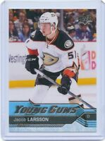 16/17 UPPER DECK YOUNG GUNS ROOKIE RC #495 JACOB LARSSON DUCKS *41405
