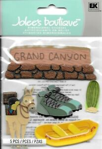 Grand Canyon Arizona Colorado River Mule Hiking Rafting Travel Jolee's Stickers