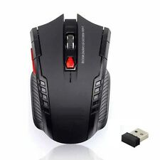 Wireless Ergonomic Optical Gaming Mouse & USB Dongle. Light Weight Design