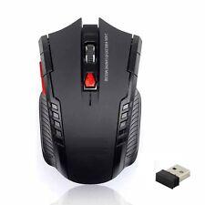 Wireless Gaming Mouse óptico de peso ligero &. Dongle Usb Para Pc/Laptop. Negro