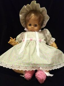 """4 PIECE CALICO DRESS SET FOR 22"""" MADAME ALEXANDER BABY DOLL PUSSYCAT PUDDIN"""