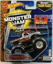 "2017 Hot Wheels Monster Jam ""El Toro Loco"" Includes Team Flag, Ships World Wide"