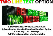 "Led Signs 6"" x 63"" Outdoor Progrmmable TRI Color Scrolling TEXT Neon Open Board"