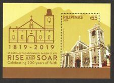 PHILIPPINES 2019 200 YEARS OF FAITH ST RAPHAEL PARISH SOUVENIR SHEET OF 1 STAMP