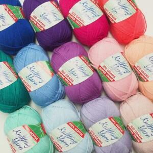 Super Value 100g Acrylic 8-Ply Knitting Yarn - Choose From 70 Colours!