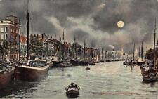 Postcard Vintage ROTTERDAM Leuvehaven Harbour Holland Netherlands BOATS