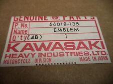 Kawasaki OEM New emblem 56018-135 S2 Mach II  #7390