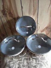Todd English GreenPan w/Thermolon Set of 3 Mini Saute/Baking Pans w/Lids - Cream