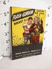 FLASH GORDON 1952 Premier plastic playset toy space rocket ship X-1 astronaut