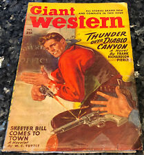 Giant Western 2:2, 1948, Vg Sam Cherry Cover, L'Amour story, restored book