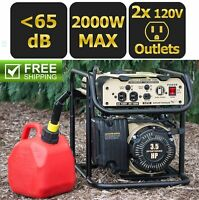 Portable Power Generator Gasoline 2000 Watt 12 / 120 Volt Tailgate Camping RV