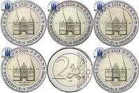 Deutschland 5 x 2 Euro 2006 Holstentor Lübeck Mzz A bis J Komplettsatz