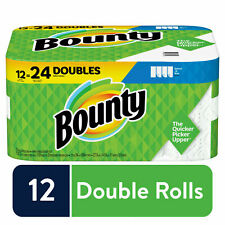 Bounty Select-A-Size Paper Towels, White, 12 Double Rolls = 24 Regular Rolls