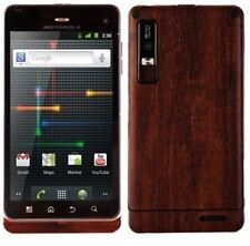 Skinomi Phone Skin Dark Wood Cover+Screen Protector for Motorola Milestone 3