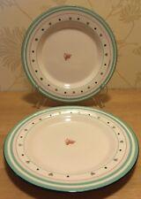 "M & S Marks and Spencer - Rose Bud - PAIR 8 5/8"" 22 cm Salad / Dessert Plates"