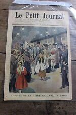 Petit journal illustré 552 1901 Reine Ranavalo à Paris Séquestrée de Poitiers