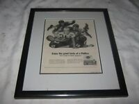 A Vintage Glass Covered Framed Genuine 1962 U.S. Phillies Cigars Ad