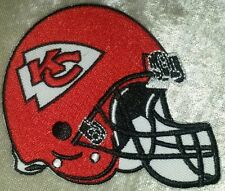 "Kansas City Chiefs Helmet 3.5"" Iron On Embroidered Patch ~USA Seller~FREE Ship!"