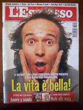 L' Espresso n°45 1997 Benigni D'Alema De Filippi   [C81]