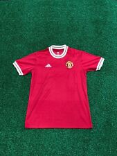Manchester United Retro Football Shirt LARGE Man United ICON Soccer Jersey 1950s