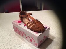 Top Moda Cycle 1Sandal Women's Size 7.5 Color Brown cushion walk pad ankle strap