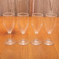 4 Clear Glass Goblets Wine Water