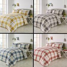 Balmoral Check Duvet Cover Bedding Quilt Set Blue Red Ochre Yellow Green