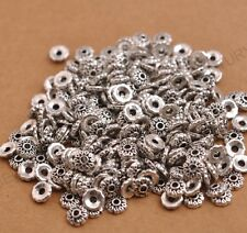 100PCS Tibetan Silver Spacer beads Flowers Bead Caps Findings 6MM C3081