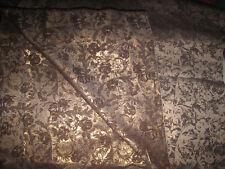 Edler, robuster Brokat - Stoff - Gold / Braun / Weiß - L 320 x B 160 cm