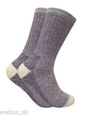 Ladies 2 Pairs Antibacterial Thick Cushioned Thermal Wool Hiking Walking Socks