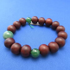 Rosewood & Green Aventurine Quartz Jade Japanese Juzu Bracelet Rosary Prayer