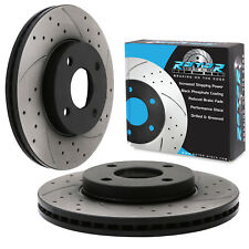 FRONT DRILLED GROOVED 262mm BRAKE DISCS FOR FORD FIESTA MK8 ST3 1.5 TURBO ST 18+