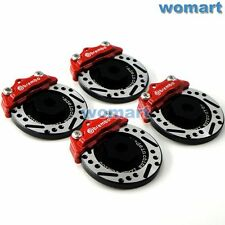 4pcs 1/10 RC Alloy Aluminum Brake Disc Caliper Fit 1:10 RC Car 12mm wheels Hub