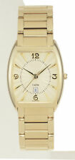 New Belair Men's Gold Plated Stainless Steel Watch Date Water Resistant Sapphire