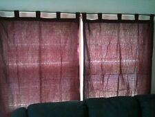 Plum / Burgandy Tab Top Drapes Curtain Shades For Living Room Bedroom Window
