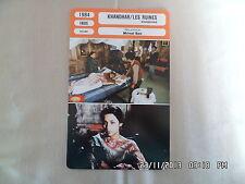 CARTE FICHE CINEMA 1984 KHANDHAR LES RUINES Shabana Azmi Naseeruddin Shah