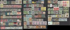 Sello de ingresos fiscales en todo el mundo 1900s 3 páginas de sellos Mint y utilizado y etiquetas