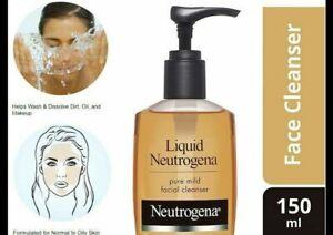 """Neutrogena Liquid Mild Facial Cleanser, """"All Skin Type"""",( 150ml ) UK SELLER"""