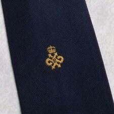 QUEEN'S AWARD EXPORT TIE VINTAGE RETRO CREST 1970s 1980s ASSOCIATION CLUB LOGO