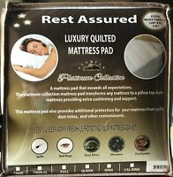 Quilted Fitted Hypoallergenic Mattress Pad Cover Protector Deep Pocket Six Sizes