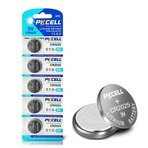 5PC CR2025 2025 ECR2025 BR2025 3V Li-ion Button Coin Battery!!!FRESH!!!NEW!!!